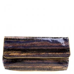 Elie Tahari Multicolored Patent Leather Clutch