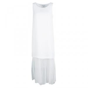 Elizabeth and James White Tulle Underlay Sleeveless Kisa Midi Dress XS - used