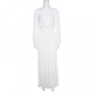 Elizabeth & James Ivory Cutout Back Josephine Pleated Dress S - used