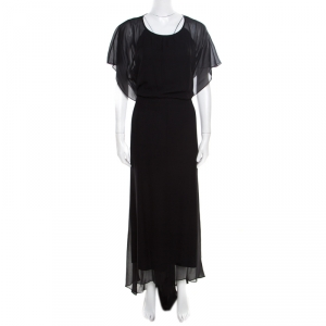 Elizabeth & James Black Silk Open Back Detail Camara Dress M - used