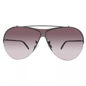 Emilio Pucci Shiny Black/Gradient Bordeaux EP0031 Aviator Sunglasses