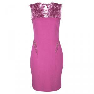 Emilio Pucci Pink Scallop Lace Detail Sleeveless Dress S