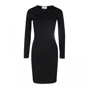 Emilio Pucci Black Wool Blend Cutout Back Detail Long Sleeve Dress M - used