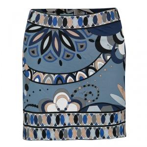 Emilio Pucci Multicolor Printed Mini Skirt M