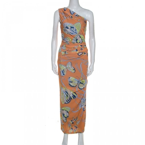 Emilio Pucci Multicolor Printed Jersey One Shoulder Dress S