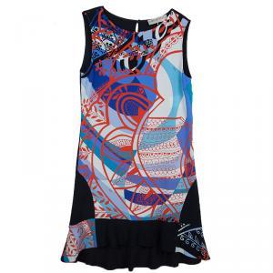 Emilio Pucci Multicolor Printed Crepe Sleeveless Shift Dress M - used