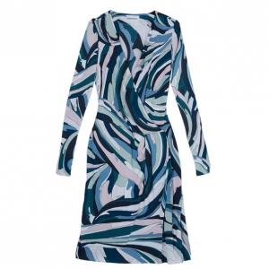 Emilio Pucci Multicolor Abstract Print Dress M