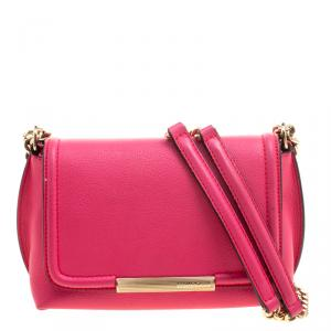 Emilio Pucci Pink Leather Chain Shoulder Bag