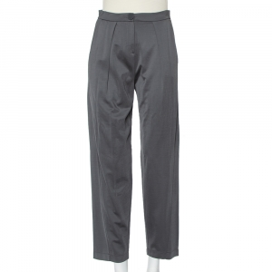 Emporio Armani Grey Knit Tailored Pants S