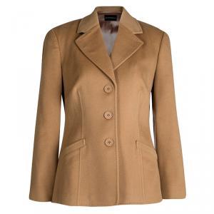 Emporio Armani Beige Wool Cashmere Blazer L
