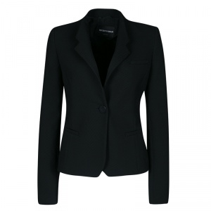 Emporio Armani Black Diagonal Striped Blazer S