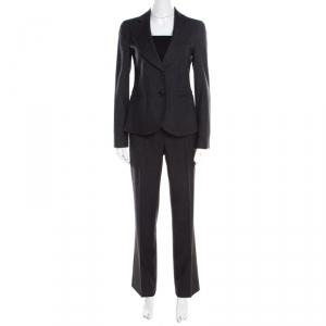 Emporio Armani Dark Grey Wool Tailored Suit S