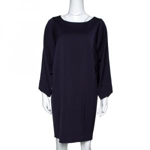 Emporio Armani Dark Purple Wool Blend Tunic Dress M used