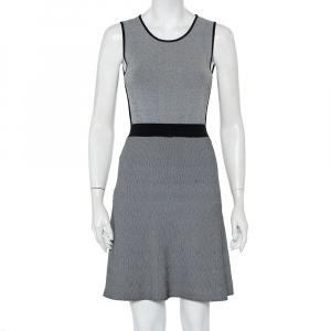 Emporio Armani Monochrome Patterned Knit Skater Dress S - used