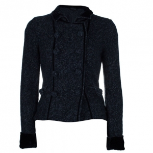 Emporio Armani Charcoal Wool Button Down Jacket S