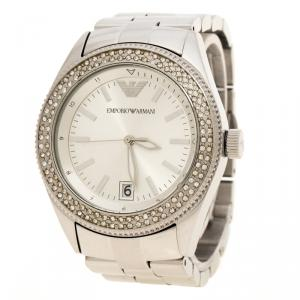 Emporio Armani SIlver Stainless Steel & Crystal AR-5781 Women's Wristwatch 39mm