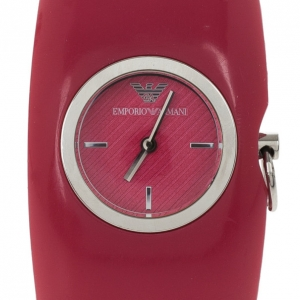 Emporio Armani Pink Resin AR0741 Women's Wristwatch 30MM