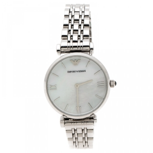 Emporio Armani Mother of Pearl Stainless Steel Classic AR1682 Women's Wristwatch 32 mm