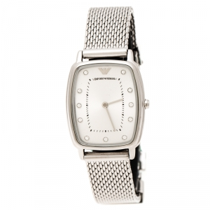 Emporio Armani Silver Stainless Steel Epsilon AR2495 Women's Wristwatch 24 mm