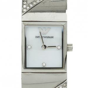 Emporio Armani Crystal Set Bangle Womens Wristwatch 20 MM