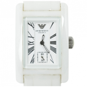 Emporio Armani White Ceramica Womens Wristwatch 25 MM