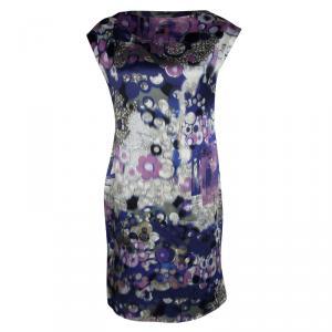 Erdem Multicolor Digital Printed Silk Sleeveless Dress M - used