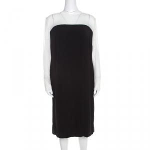 Escada Monochrome Sheer Yoke Detail Long Sleeve Dary Dress L - used