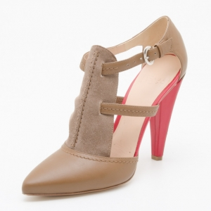 Escada Sport Tan Leather and Suede Pumps Size 38