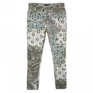 Etro Multicolor Floral and Paisley Print Slim Fit Denim Jeans M