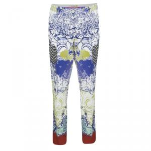 Etro Multicolor Printed Tapered Pants M
