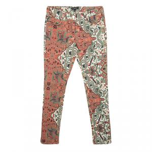 Etro Multicolor Printed Stretch Denim Skinny Jeans S