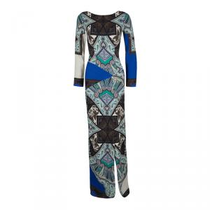 Etro Multicolor Printed Long Sleeve Maxi Dress S