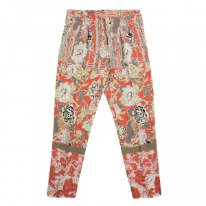 Etro Multicolor Floral Print High Waist Trousers L