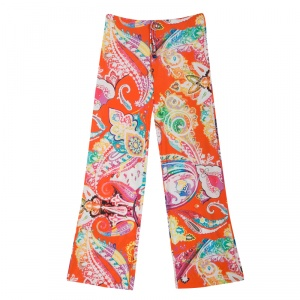 Etro Multicolor Printed Knit Elasticized Waist Pants XL