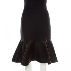 Etro Black Wool Flounce Skirt M