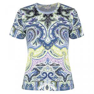 Etro Multicolor Paisley Print Short Sleeve T-Shirt L