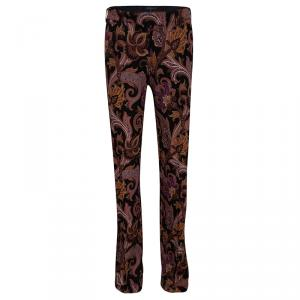 Etro Multicolor Paisley Printed Straight Fit Trousers S