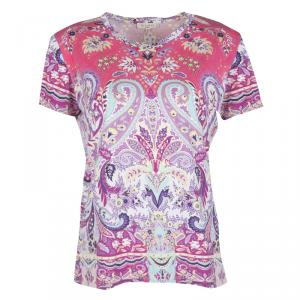 Etro Multicolor Paisley Printed Jersey Short Sleeve T-Shirt L