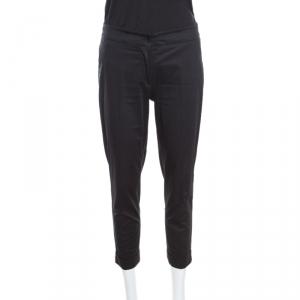 Etro Black Cuffed Hem Tailored Pants S