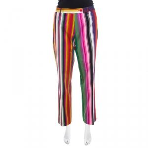 Etro Multicolor Striped Cotton Pants L