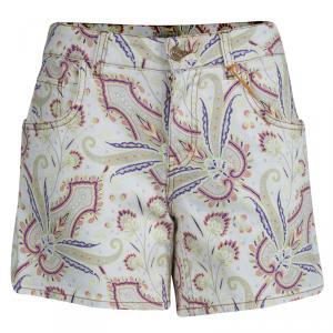 Etro Paisley Printed Denim Shorts M used
