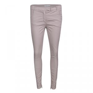 Fabiana Filippi Dusty Pink Stretch Cotton Twill Skinny Trousers S