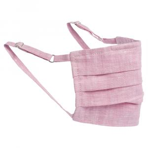Collars & Cuffs Non-Medical Handmade Blush Pink Linen Face Mask (Available for UAE Customers Only)