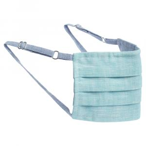Collars & Cuffs Non-Medical Handmade Cyan Face Mask (Available for UAE Customers Only)