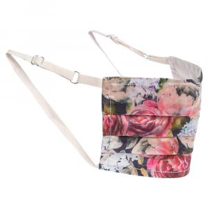 Collars & Cuffs Non-Medical Handmade Pink Peonies Face Mask (Available for UAE Customers Only)