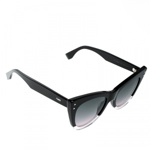 Fendi Black/Black Gradient FF0238S Cat Eye Sunglasses