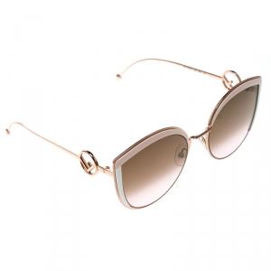 Fendi Copper/ Brown Pink Gradient FF0290/S Oversize Cat Eye Sunglasses