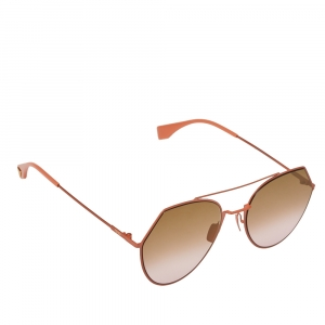 Fendi Peach Tone/ Bicolor Gradient FF0194/S Eyeline Round Sunglasses