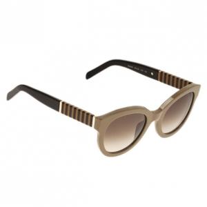 Fendi Beige Pequin 5350 Round Sunglasses