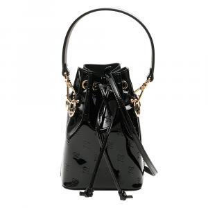 Fendi Black Leather Mon Tresor Shoulder Bag